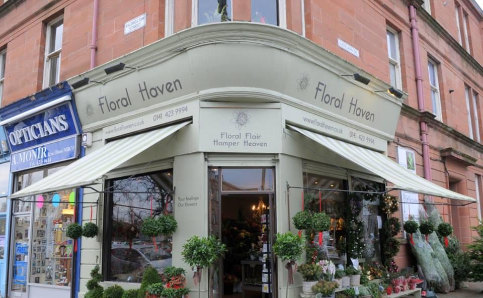 Floral Haven Florists Glasgow Shopfront