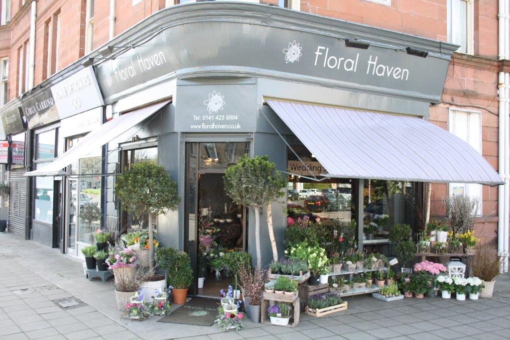 glasgow florist shop floral haven outside